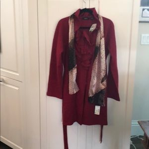 Red Wool Coat NWT
